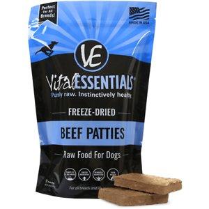 Vital Essentials Beef Patties Grain-Free Freeze-Dried Raw Dog Food