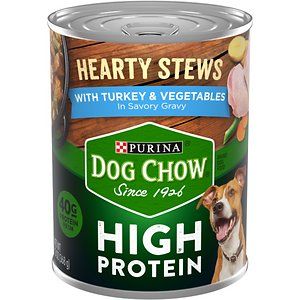 Dog Chow Hearty Stews With Real Turkey & Vegetables In Savory Gravy High Protein Wet Dog Food