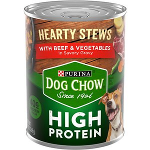 Dog Chow Hearty Stews With Real Beef & Vegetables In Savory Gravy High Protein Wet Dog Food