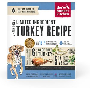 The Honest Kitchen Limited Ingredient Diet Turkey Recipe Grain-Free Dehydrated Dog Food