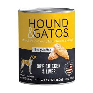 Hound & Gatos 98% Chicken & Liver Grain-Free Canned Dog Food