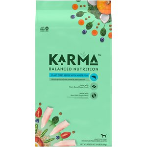 Karma Balanced Nutrition Plant First Recipe with White Fish Adult Dry Dog Food