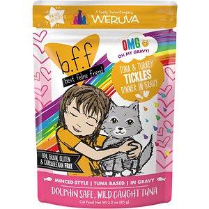 BFF Oh My Gravy! Tuna & Turkey Tickles Dinner in Gravy Wet Cat Food Pouches