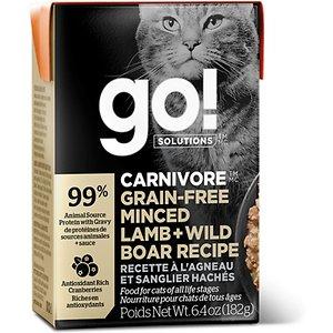 Go! Solutions CARNIVORE Grain Free Minced Lamb + Wild Boar Cat Food