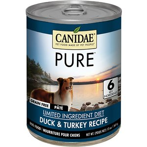 CANIDAE PURE All Stages Grain-Free Limited Ingredient Duck & Turkey Recipe Canned Dog Food