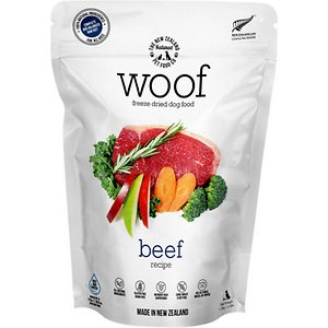 The New Zealand Natural Pet Food Co. Woof Beef Recipe Grain-Free Freeze-Dried Dog Food