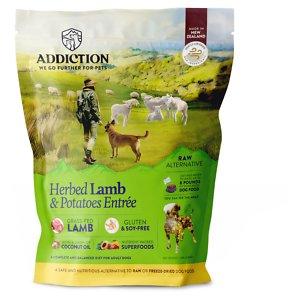 Addiction Herbed Lamb & Potatoes Raw Dehydrated Dog Food